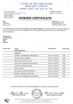 KOSHER Certificate Nics bars Page 1